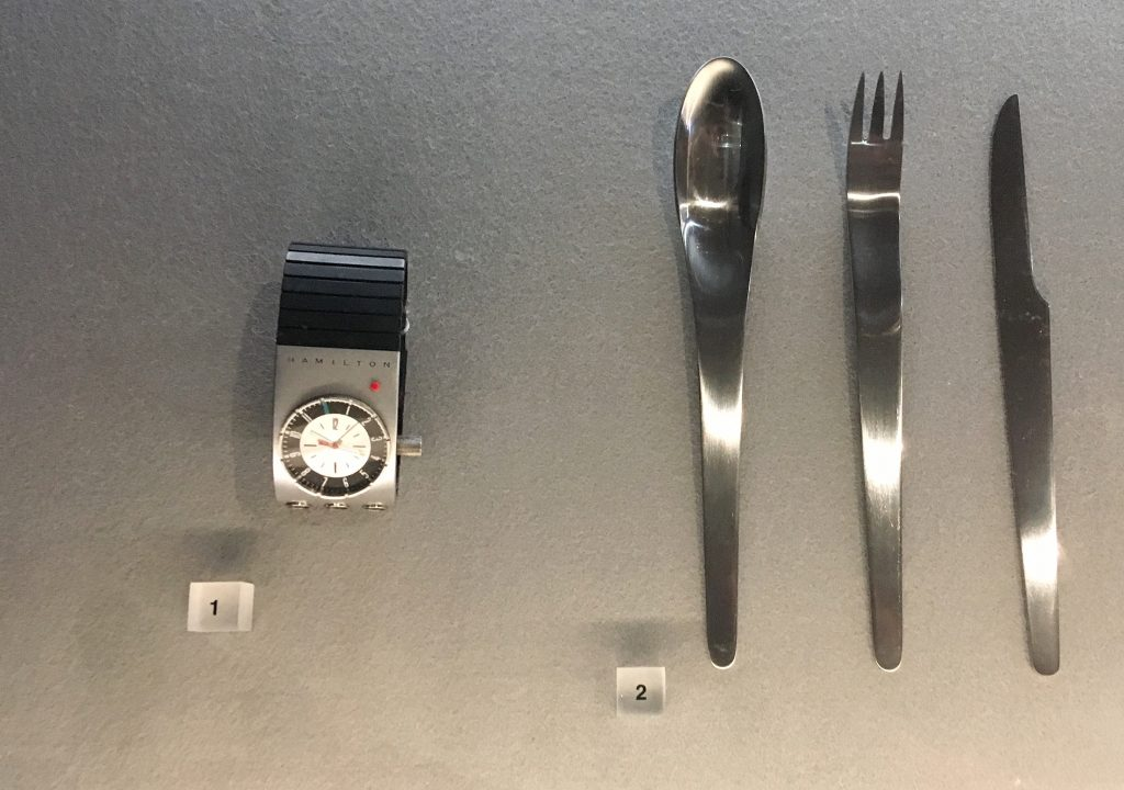 Watch and cutlery props at Stanley Kubrick: The Exhibition
