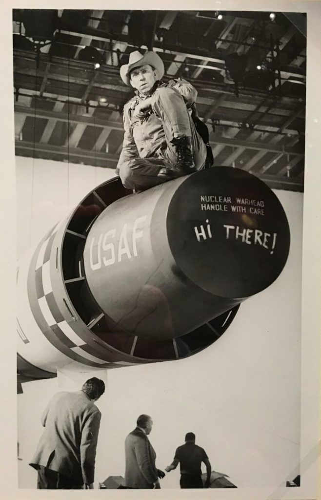Slim Pickens as Major Kong, Dr Strangelove from Stanley Kubrick: The Exhibition