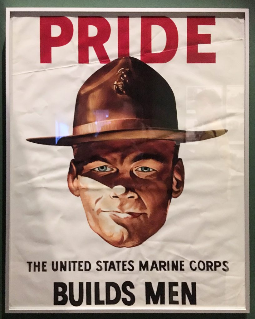 Prop poster from 'Full Metal Jacket' from Stanley Kubrick: The Exhibition