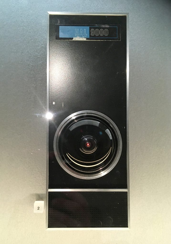HAL 900 panel from 2001: A Space Odyssey at Stanley Kubrick: The Exhibition