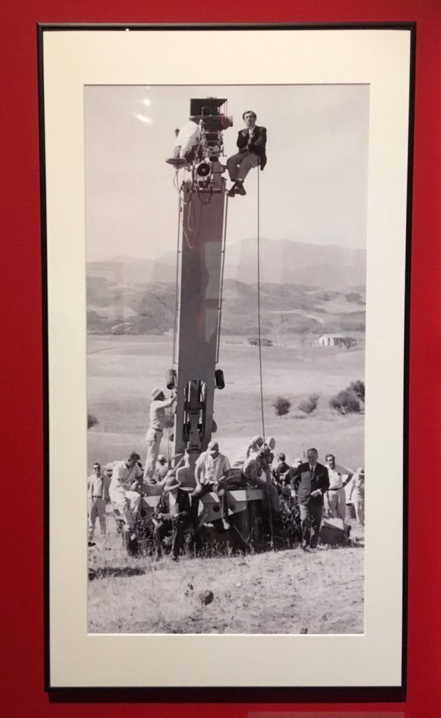 Stanley Kubrick on a crane filming Spartacus from Stanley Kubrick: The Exhibition