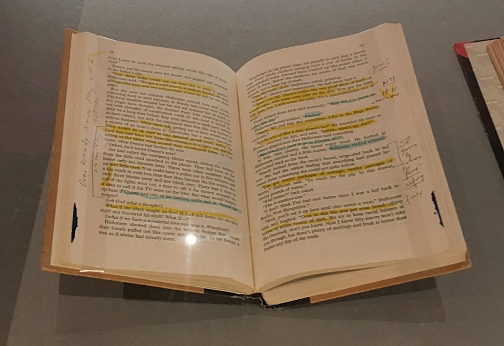 Stanley Kubrick's personal copy of Stephen King's novel, The Shining at Stanley Kubrick: The Exhibition