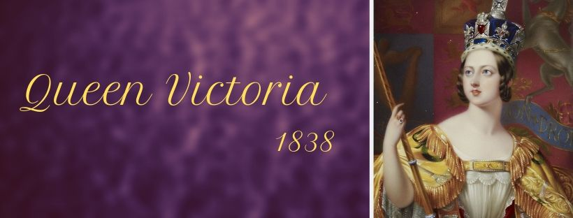 Queen Victoria, 1838 shortly before her move to Buckingham Palace