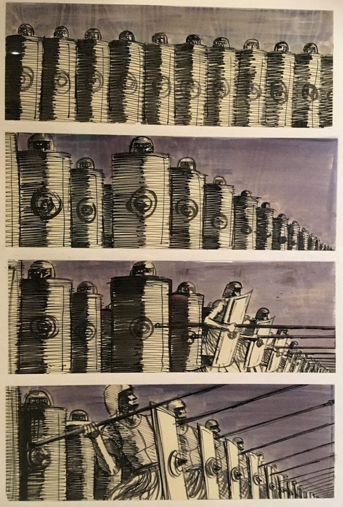 Storyboards from Spartacus at Stanley Kubrick: The Exhibition