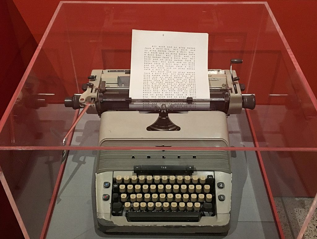 Jack Torrance's typewriter from The Shining at Stanley Kubrick: The Exhibition