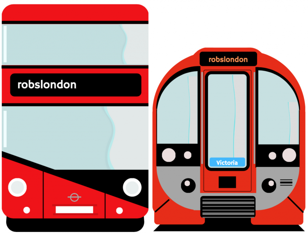 Rob's London bus and tube train