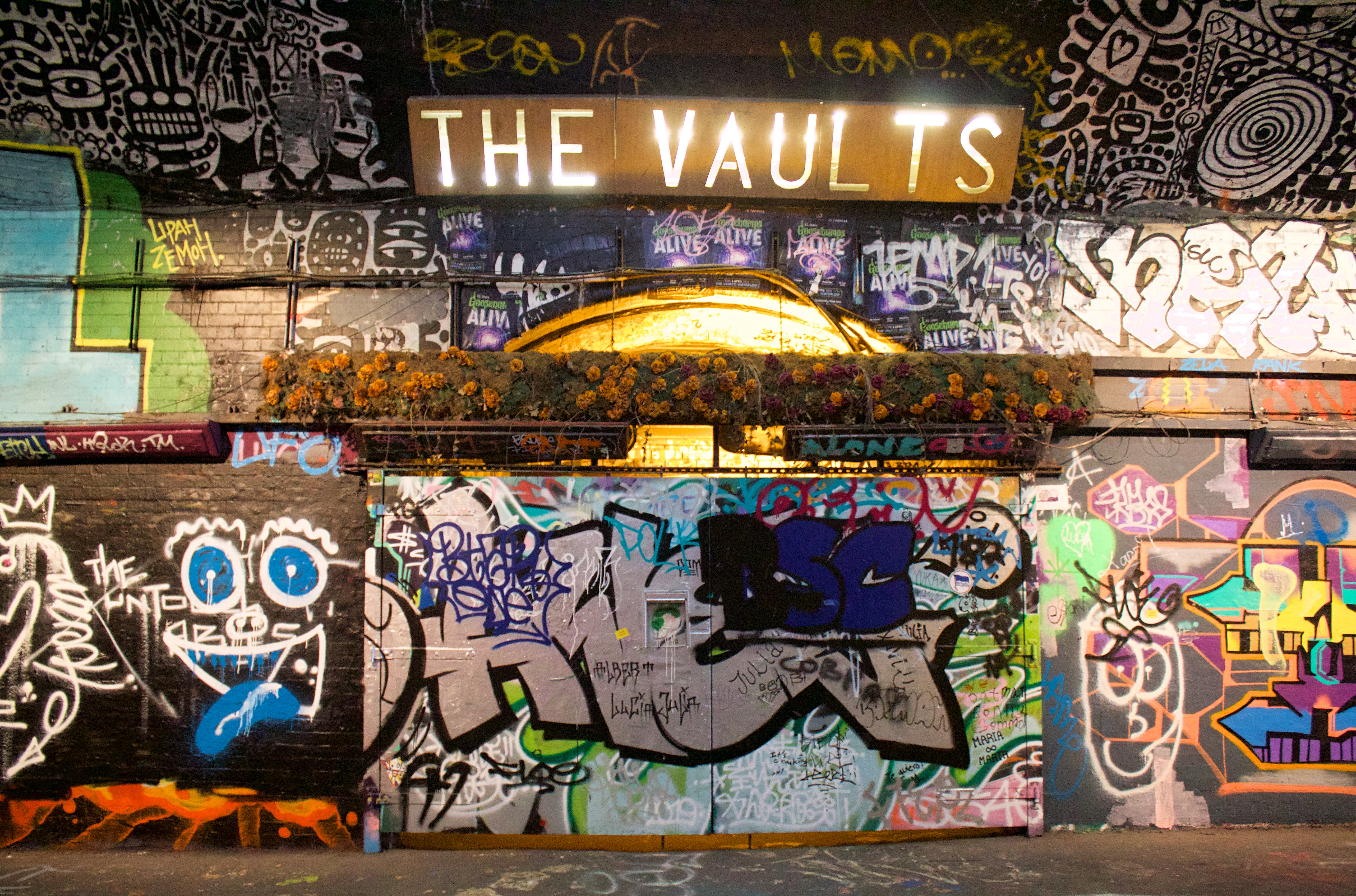 The Vaults art and theatre space, Leake Street Waterloo