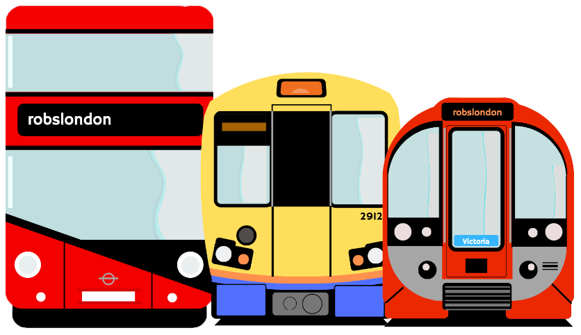 Bus, train and tube
