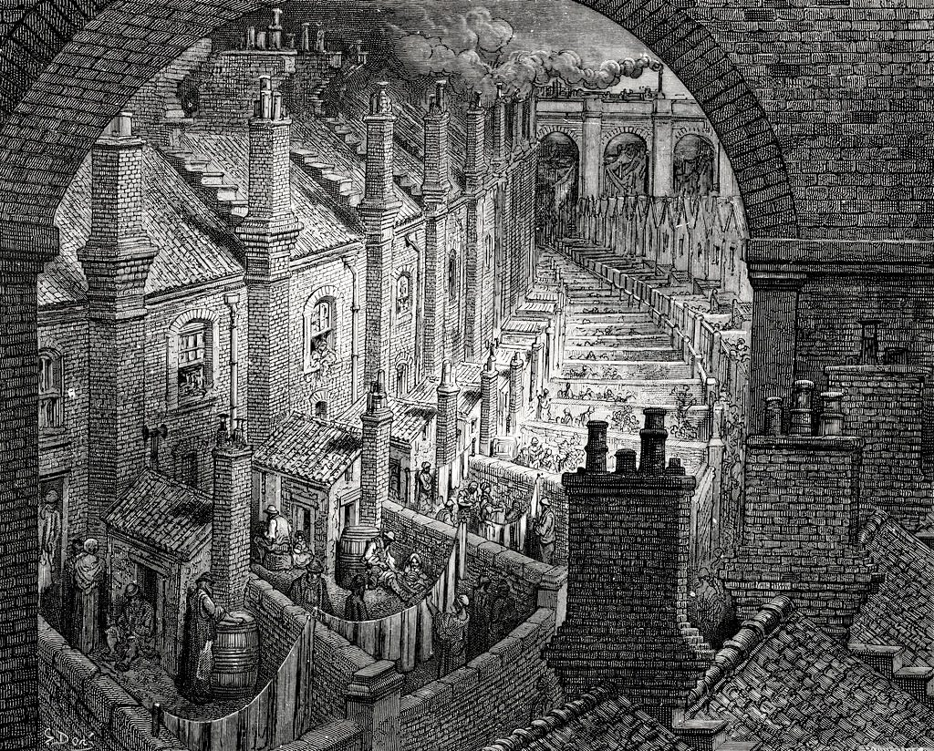 London in the 19th century by Gustave Dore