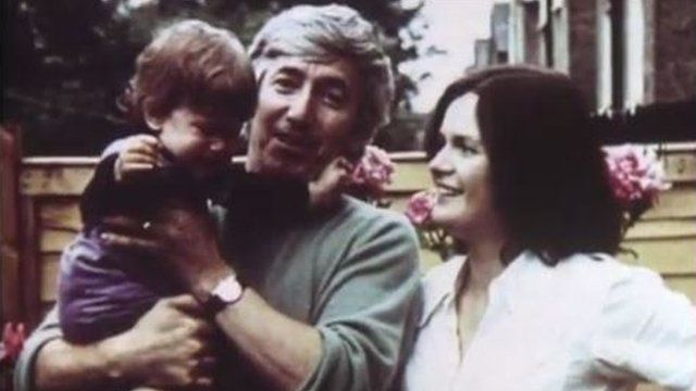 The umbrella assassination: Georgi Markov with his wife and daughter (image: BBC)