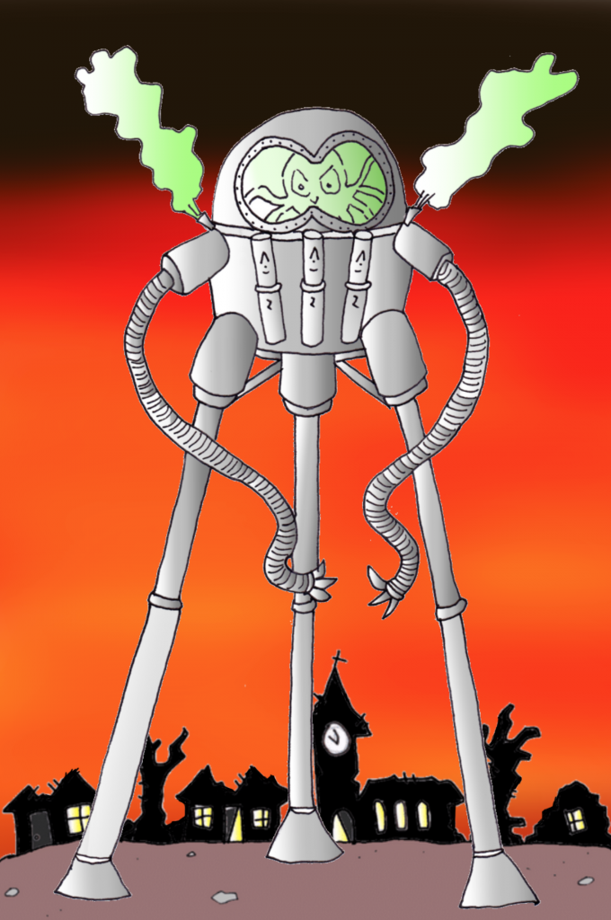 Martian Walking Machine, War of the Worlds. copyright robert Lordan, robslordan.com