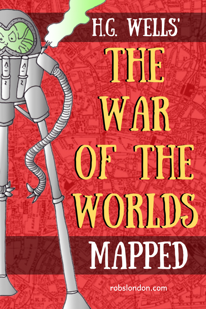 War of the Worlds mapped, robslondon.com