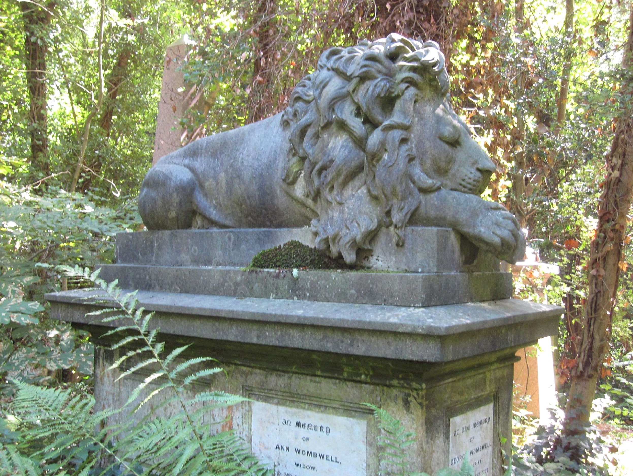 George Wombwell's tomb in Highgate Cemetery (image: Copyright Flickr user, Thomas)