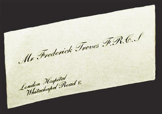 Dr Treves' business card