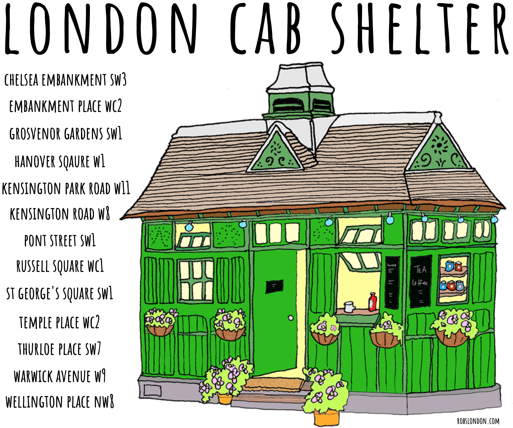 London Cab Shelter mug from robslondon.com