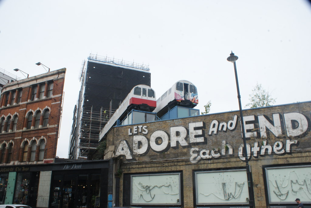 Village Underground, Shoreditch former Jubilee line carriages (image copyright Robert Lamb, via Geograph)