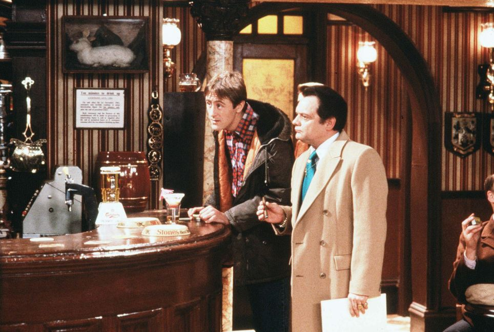 Del Boy Rodney inside The Nag's Head from 'Only Fools & Horses''
