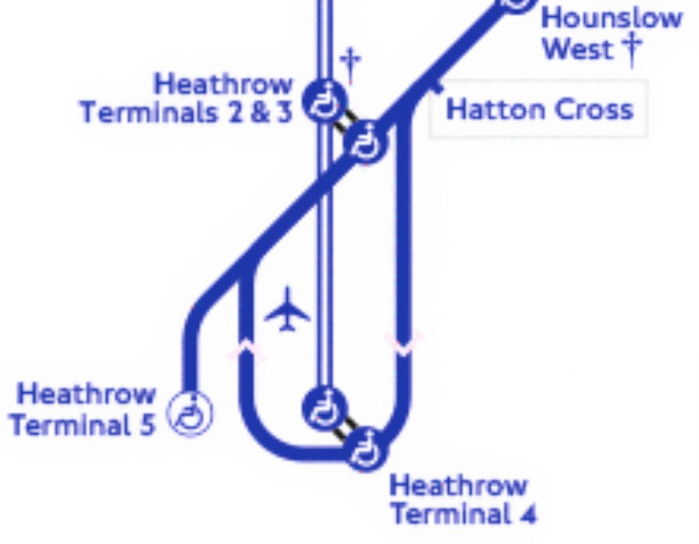 Piccadilly line at Heathrow Airport