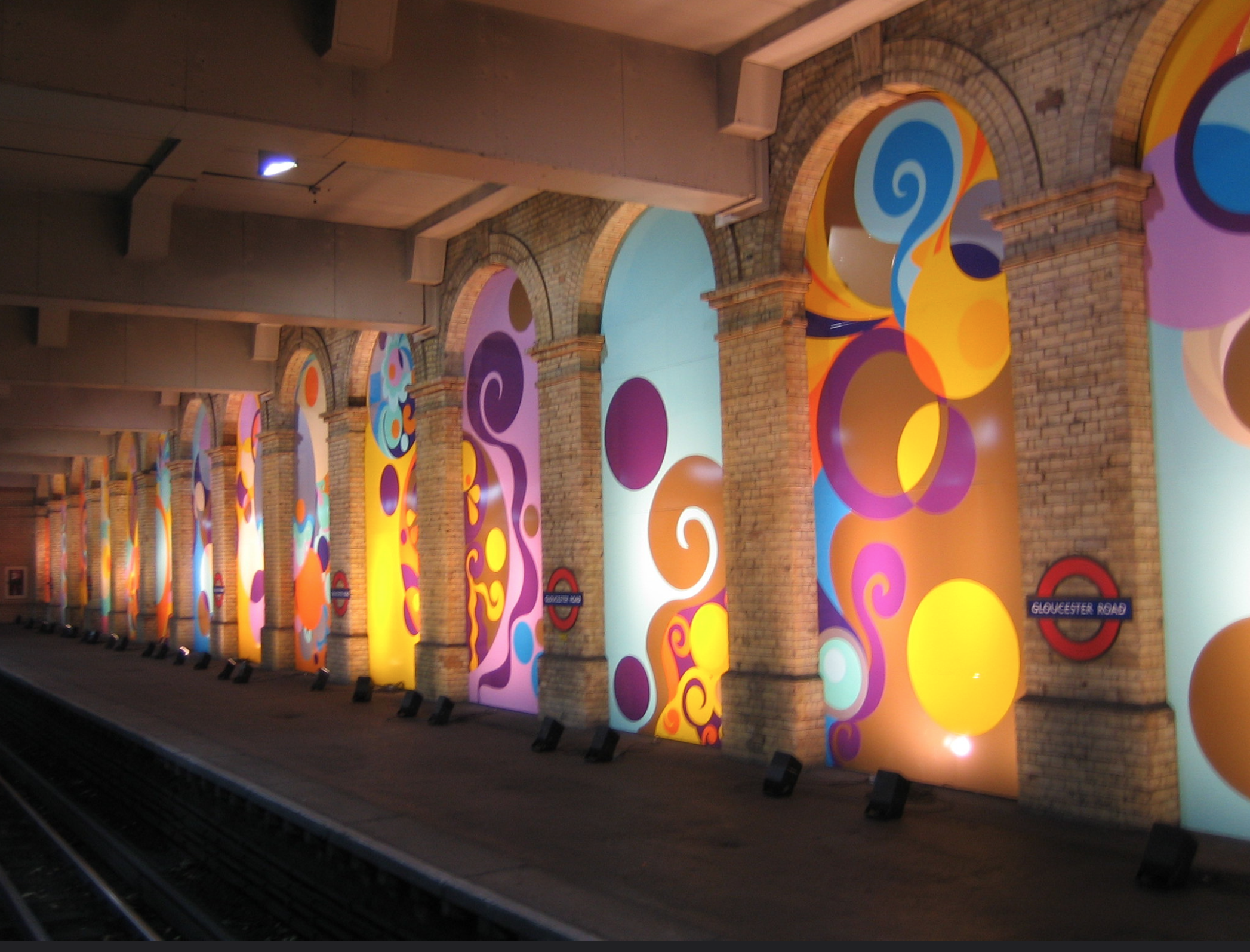 'Peace and Love' installation at Gloucester Road, 2005-2005 (image copyright Gordon Holy, via Flickr)