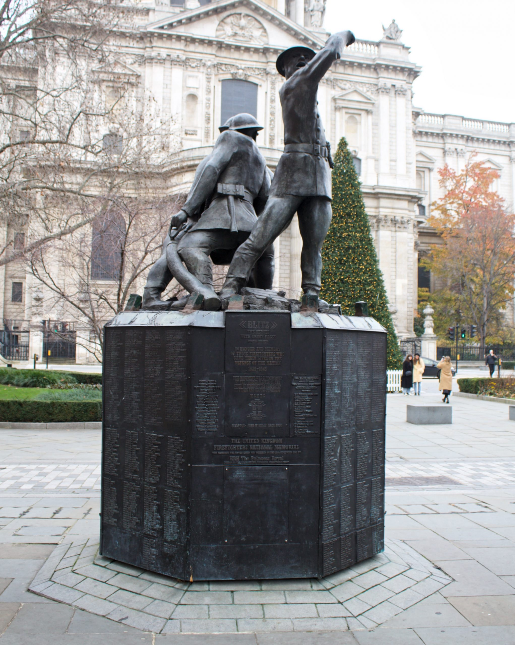 Firefighters' memorial outside St Paul's Cathedral