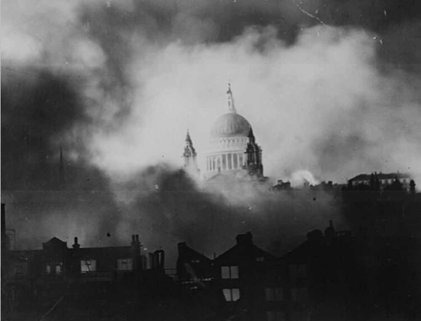 St Paul's Cathedral, December 29th 1940 by Herbert Mason