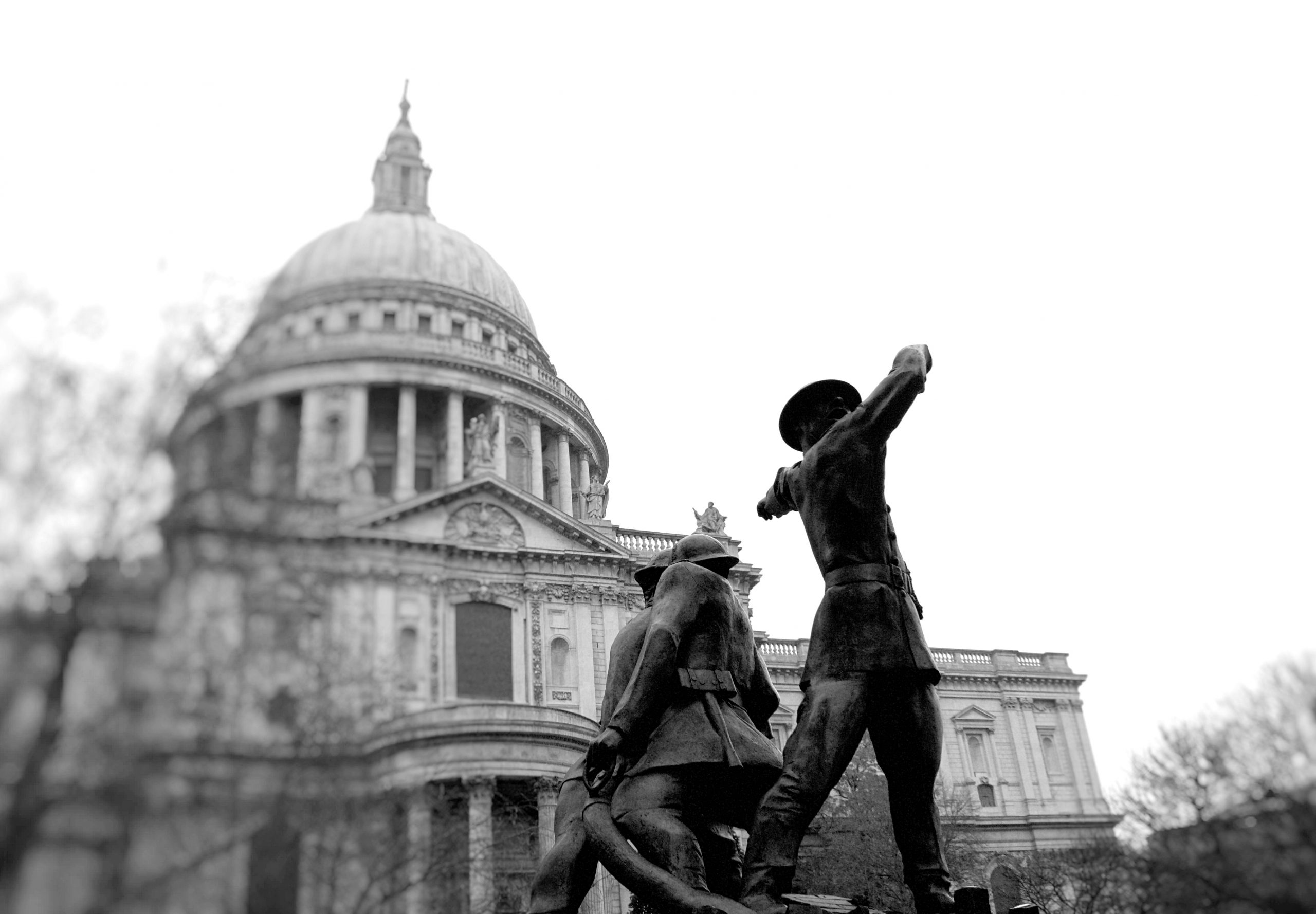 The National Firefighters' Memorial, looking towards St Paul's