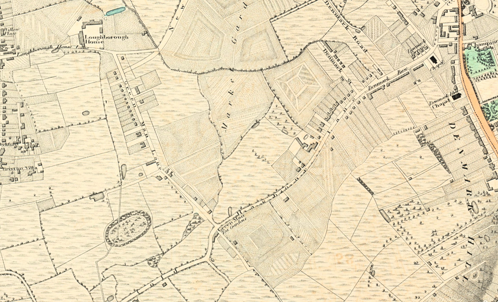 Coldharbour Lane in the early 19th century