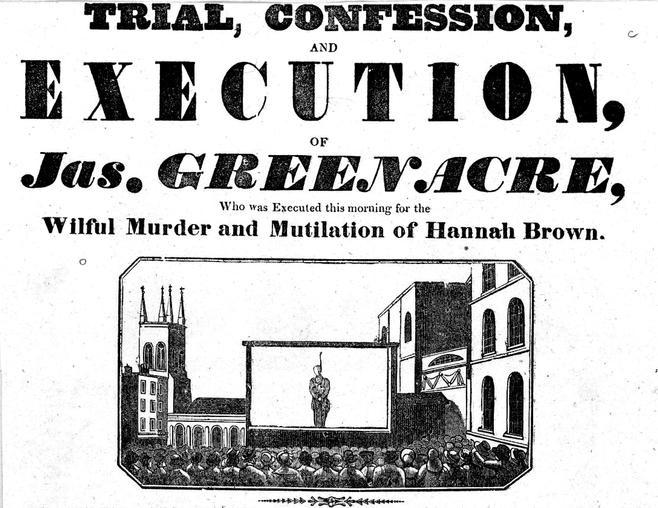 The execution of James Greenacre