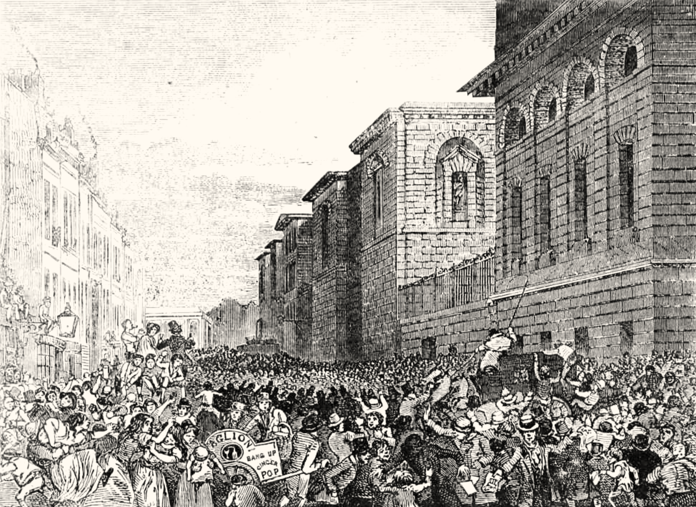 An execution outside Newgate, 19th century