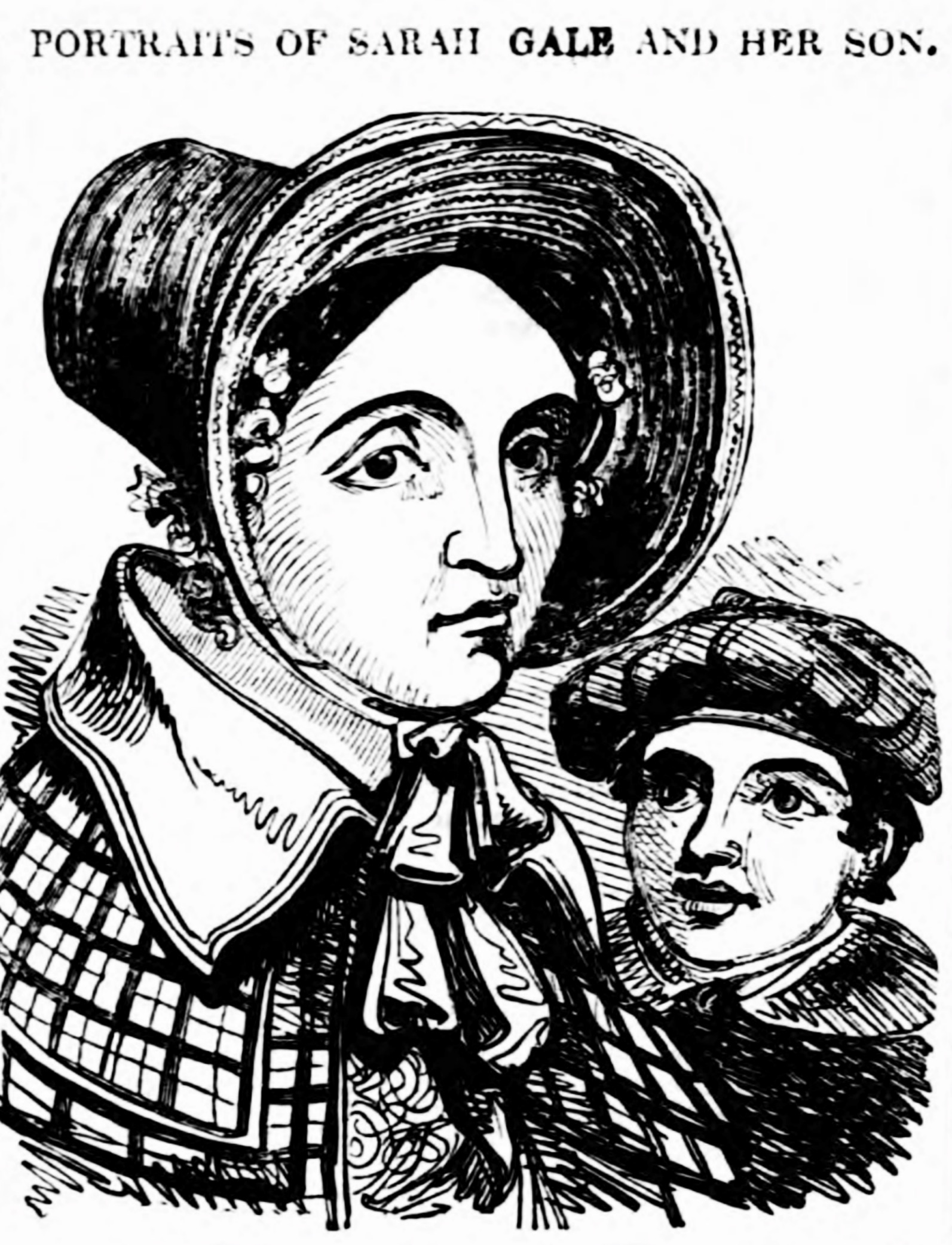 Sarah Gale with her son