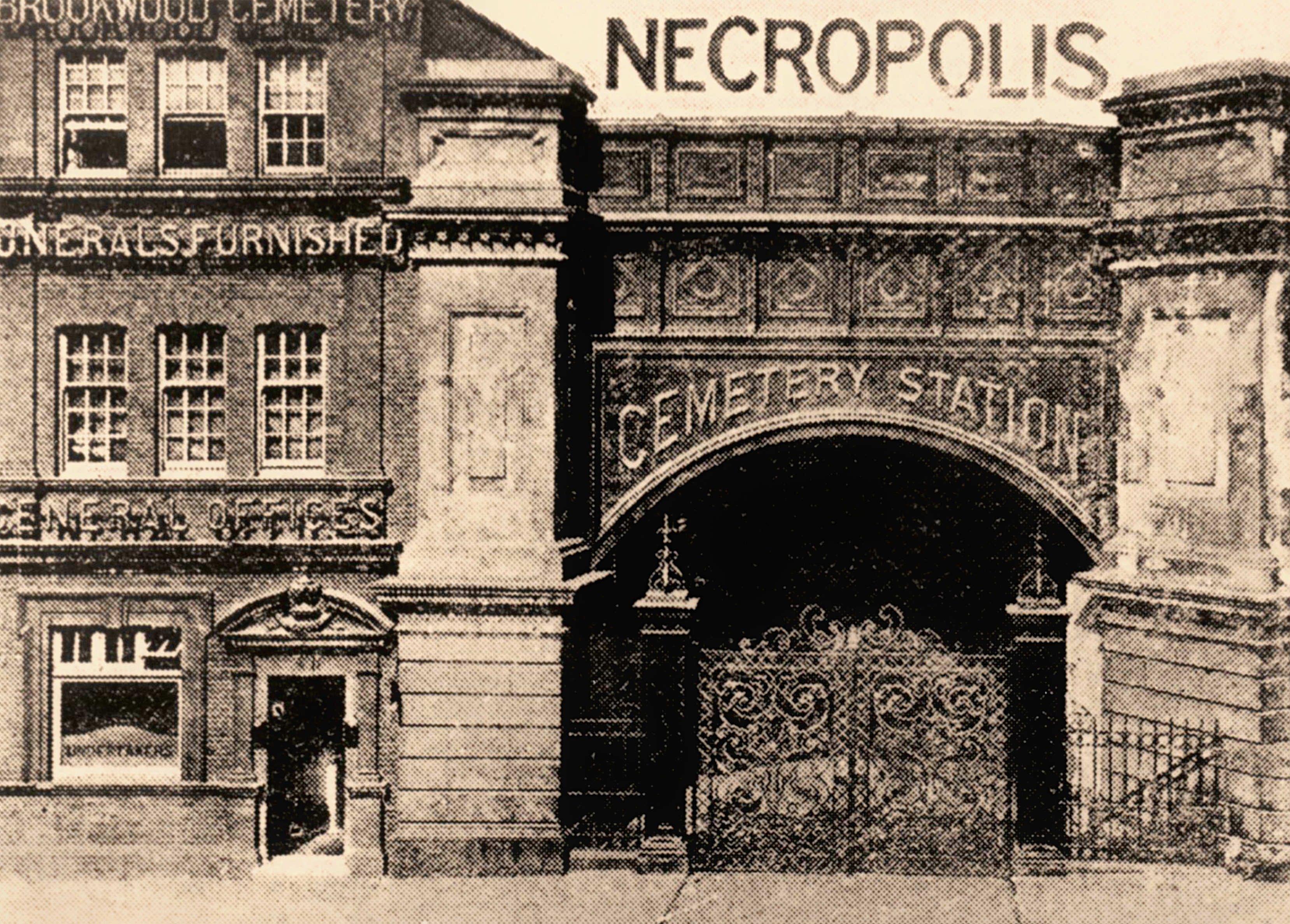 The first London Necropolis Railway Station at Waterloo