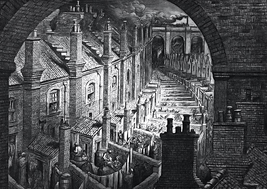 Over London by Rail, Gustave Dore, 1877