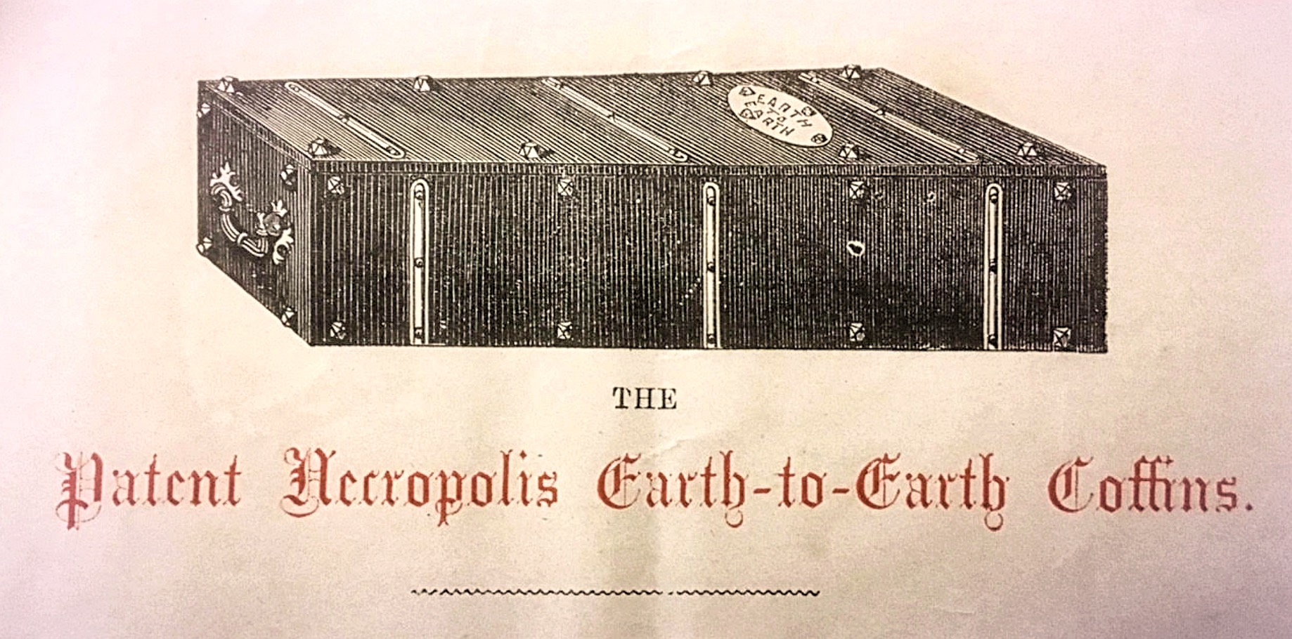 Biodegradable Earth to Earth Coffin designed for the London Necropolis Railway