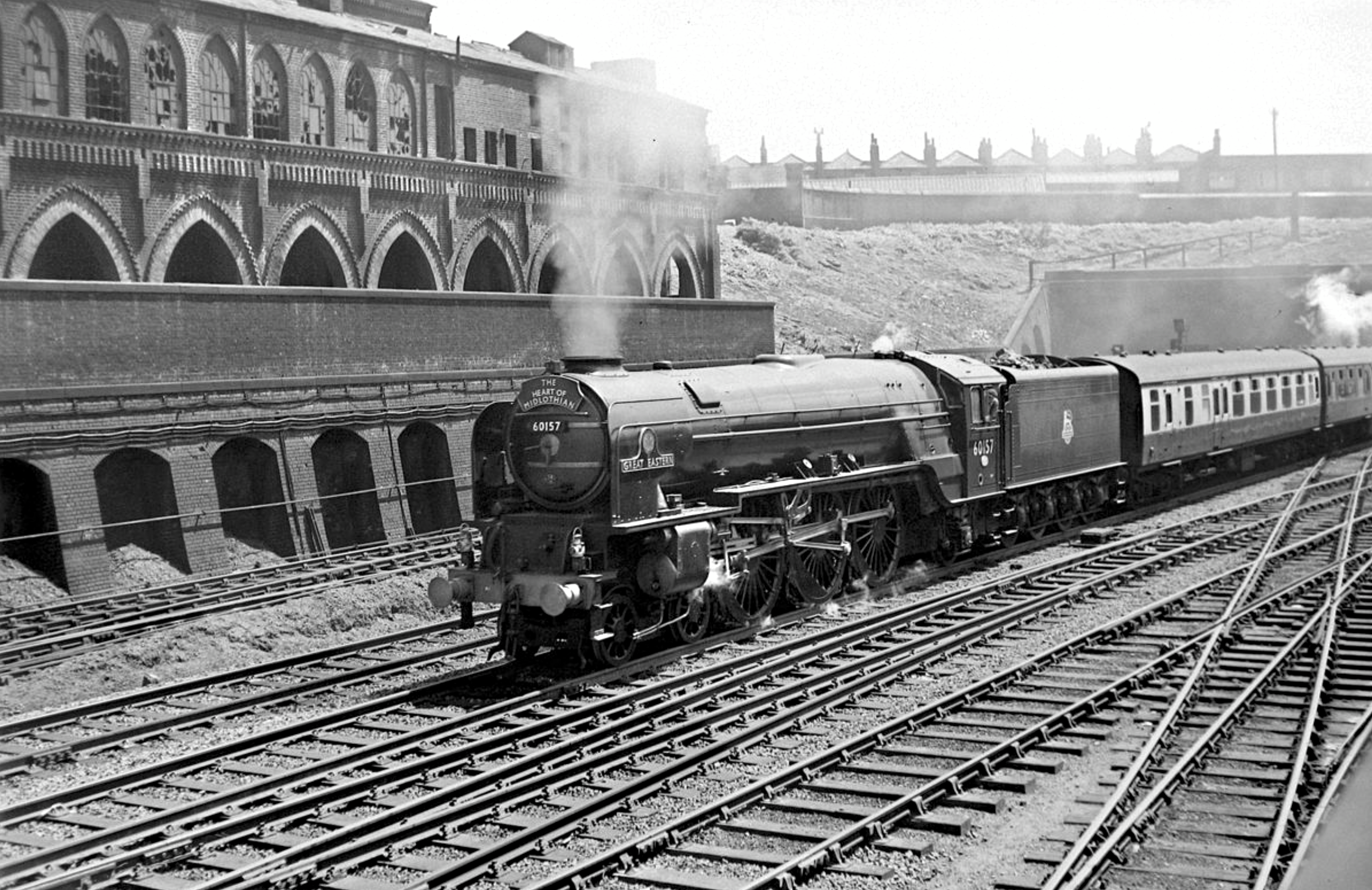The derelict King's Cross Cemetery Terminal, 1950s