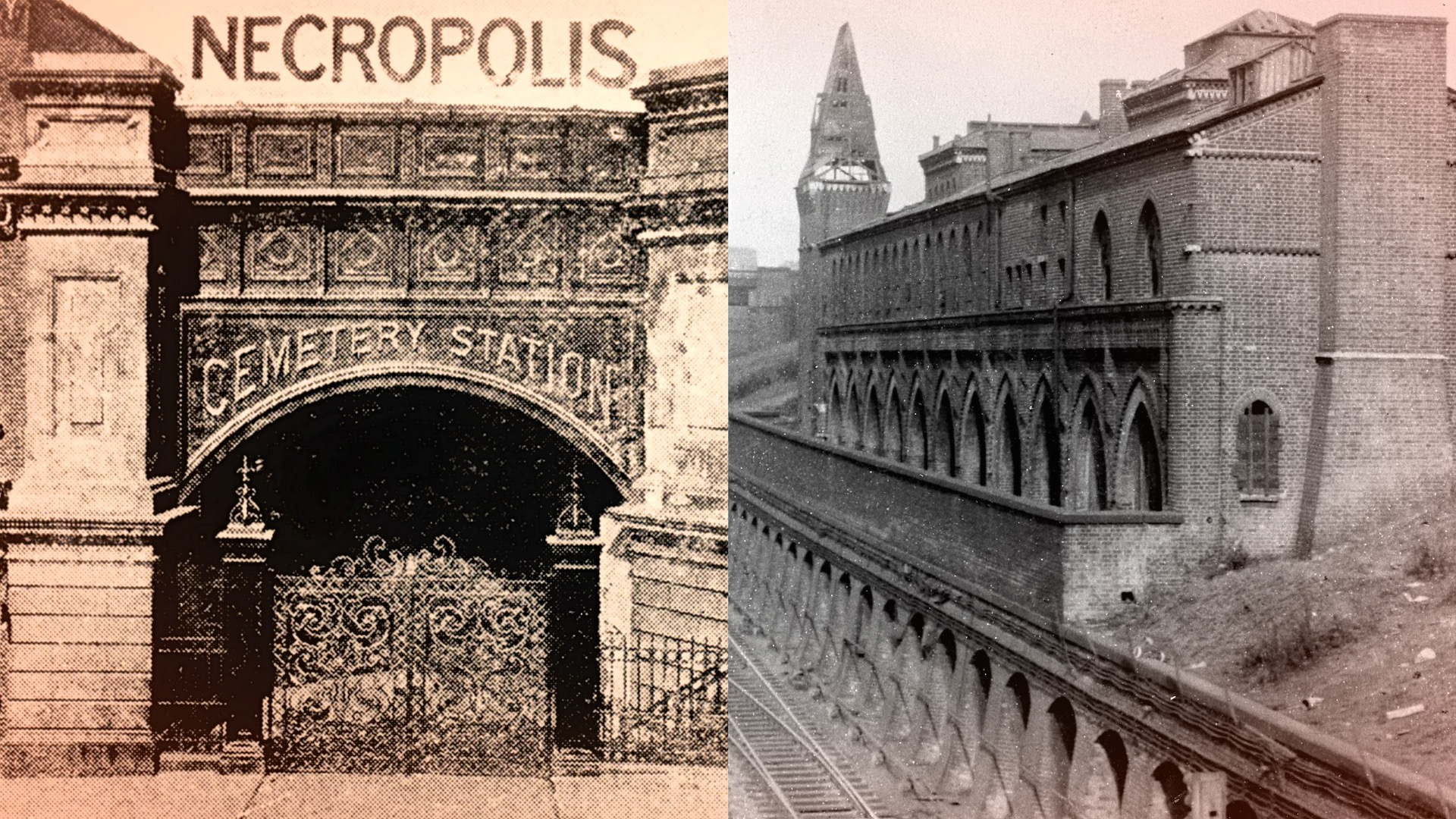 The London Necropolis Railway Terminal and the Great Northern Cemetery Terminal